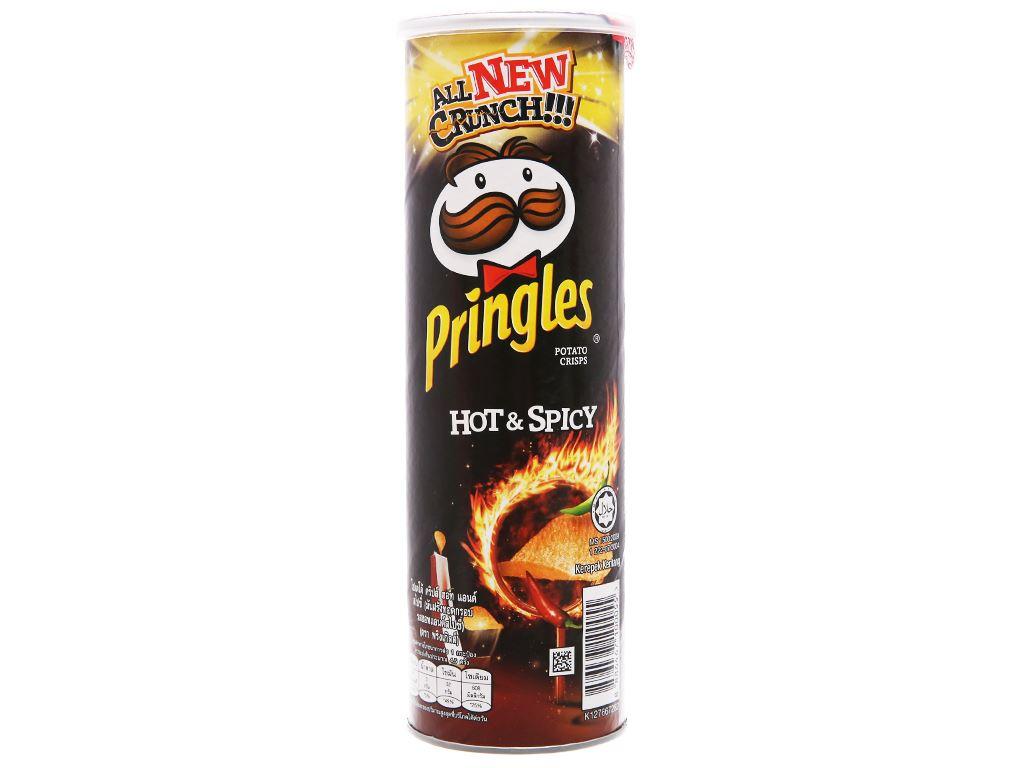Snack khoai tây vị cay đặc biệt Pringles lon 107g 2