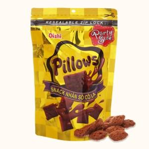 Snack nhân sô cô la Oishi Pillows gói 100g