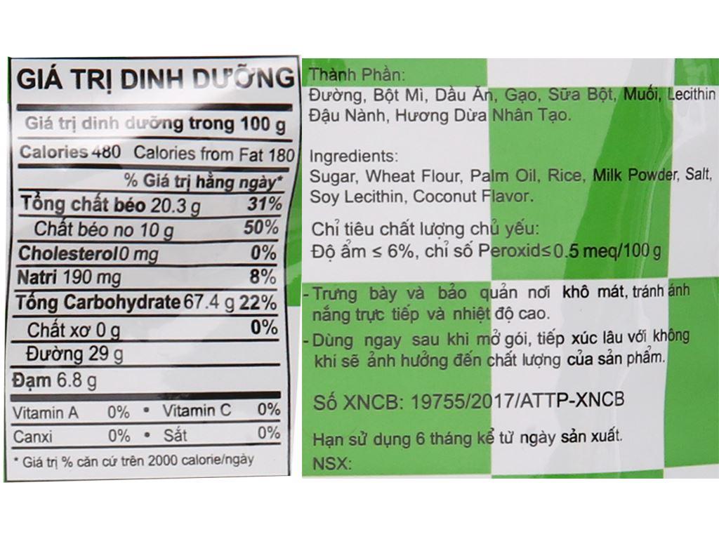 Snack nhân vị sữa dừa Oishi Pillows gói 100g 4