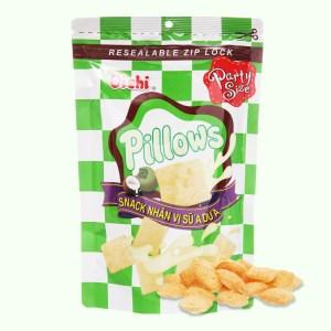 Snack nhân vị sữa dừa Oishi Pillows gói 100g