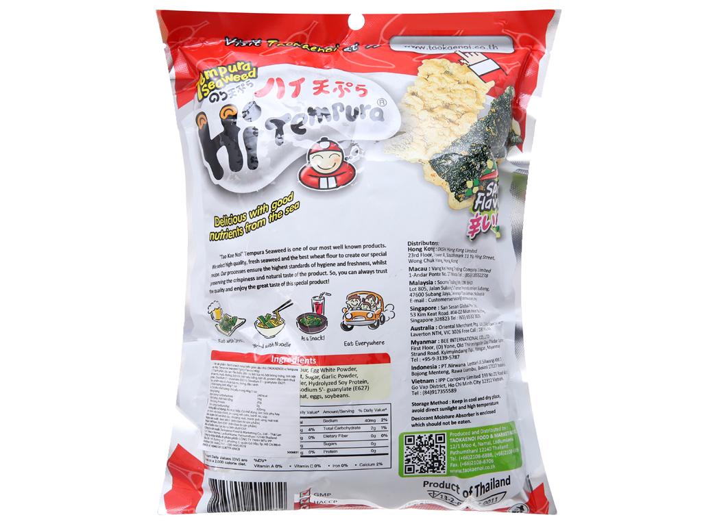 Snack rong biển vị cay Tao Kae Noi Hi Tempura gói 40g 2