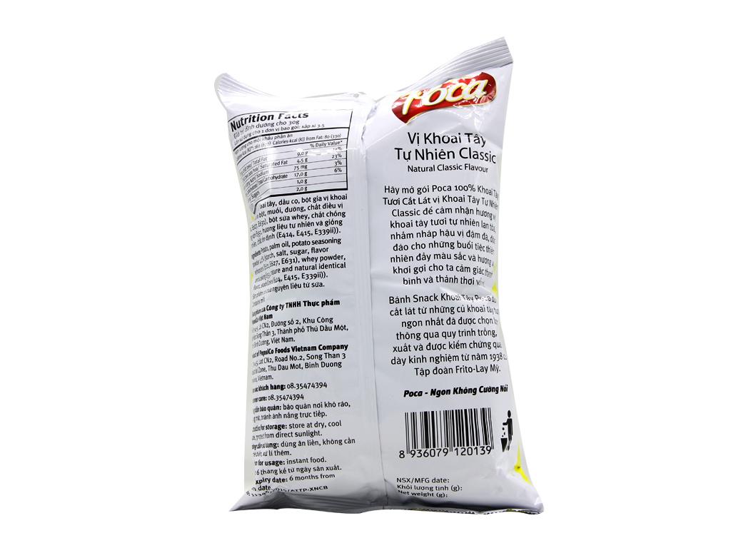 Snack khoai tây Poca Vị tự nhiên 100g 3