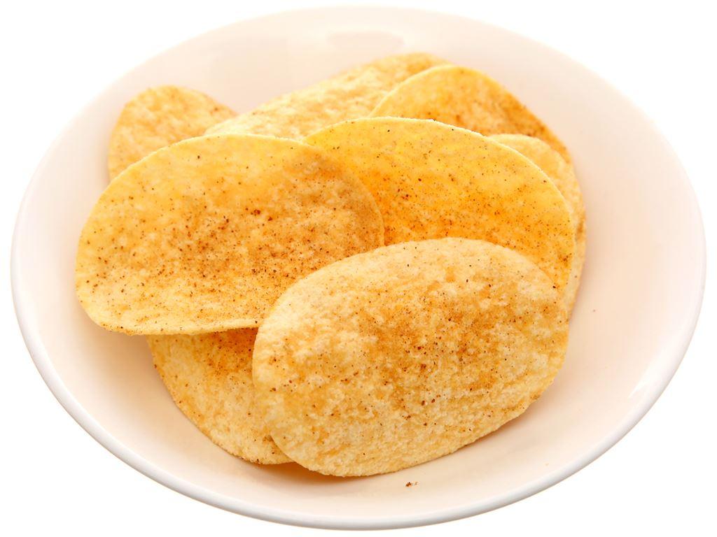 Bánh lát khoai tây vị thịt nướng Slide lon 75g 6