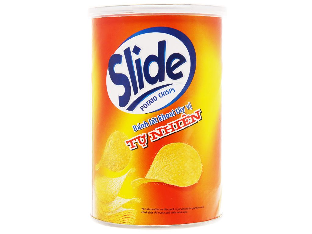 Snack khoai tây vị tự nhiên Slide lon 75g 6