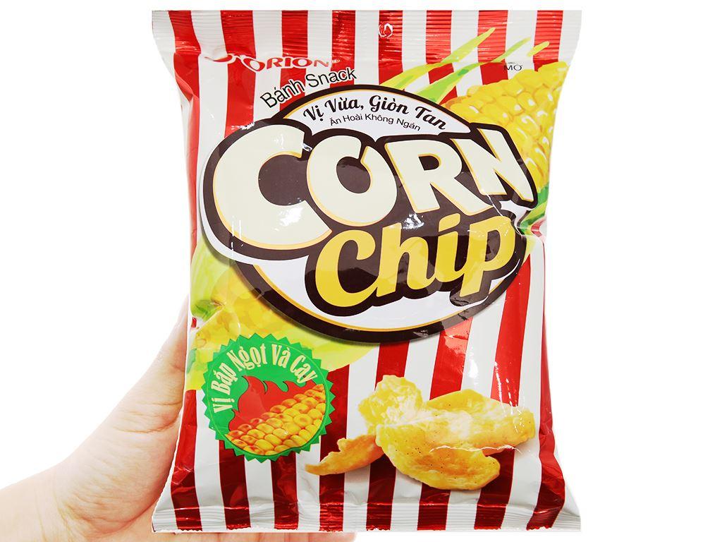 Snack Corn Chip vị bắp ngọt và cay gói 35g 4