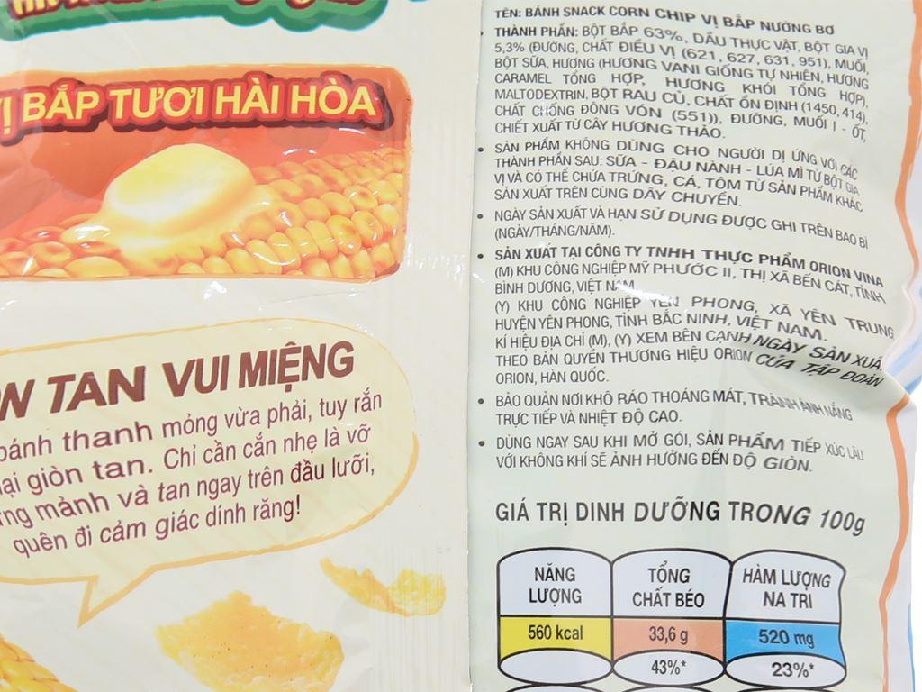 Snack vị bắp nướng bơ Corn Chip gói 35g 4