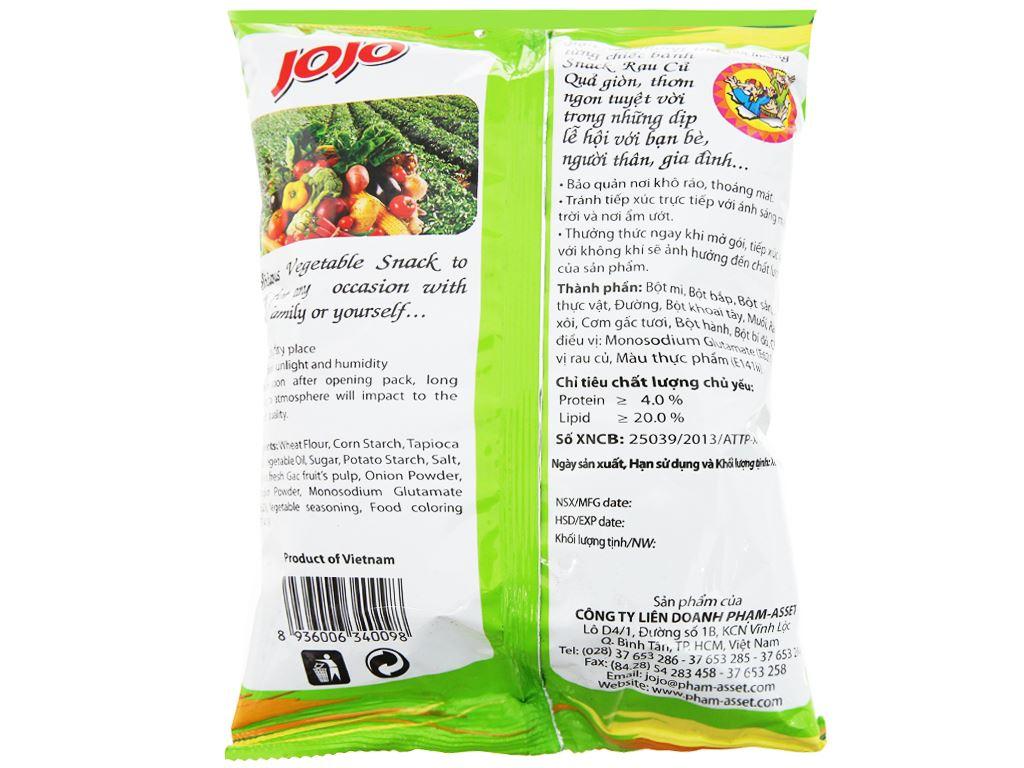 Snack rau củ quả JoJo gói 40g 3