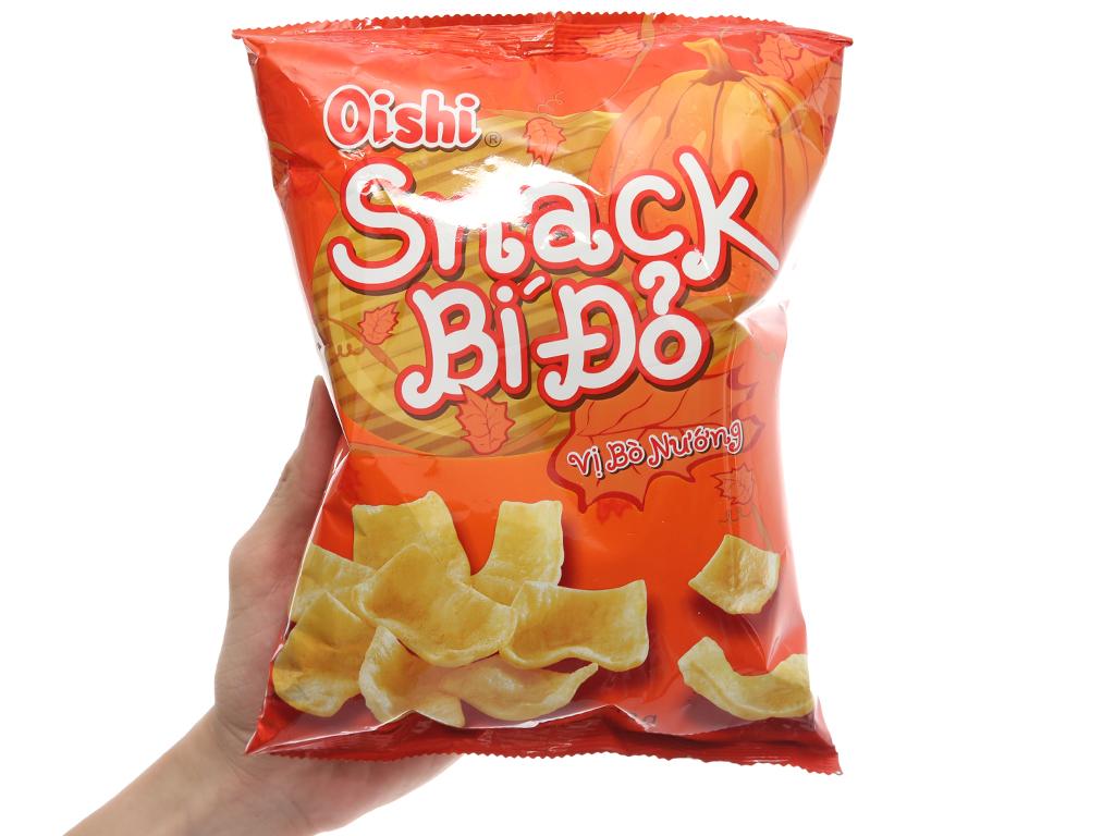 Snack bí đỏ vị bò nướng Oishi gói 42g 3