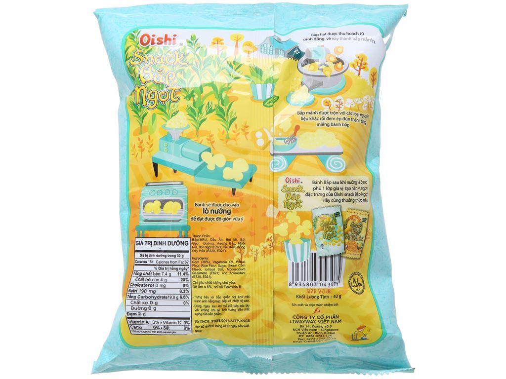 Snack bắp ngọt Oishi gói 40g 2
