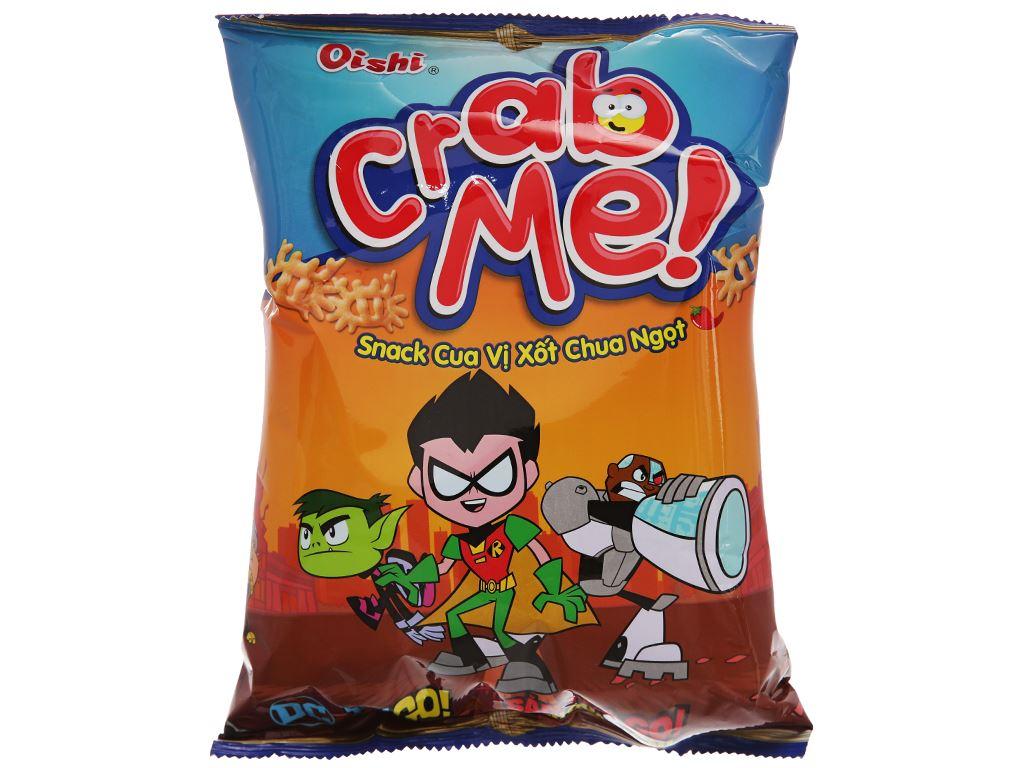 Snack cua vị sốt chua ngọt Oishi Crab Me gói 45g 1