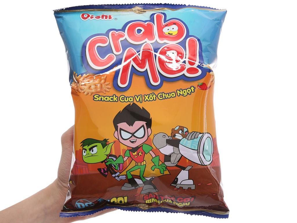 Snack cua vị sốt chua ngọt Oishi Crab Me gói 45g 3