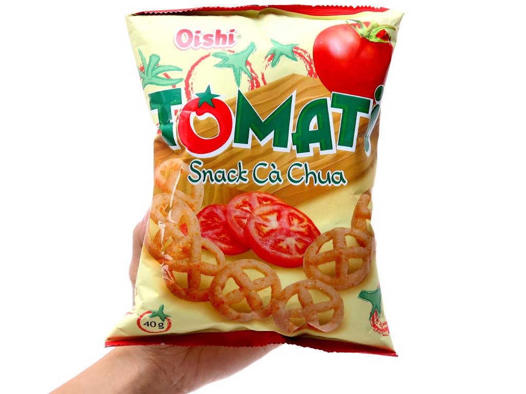 Snack cà chua Oishi Tomati gói 40g 3