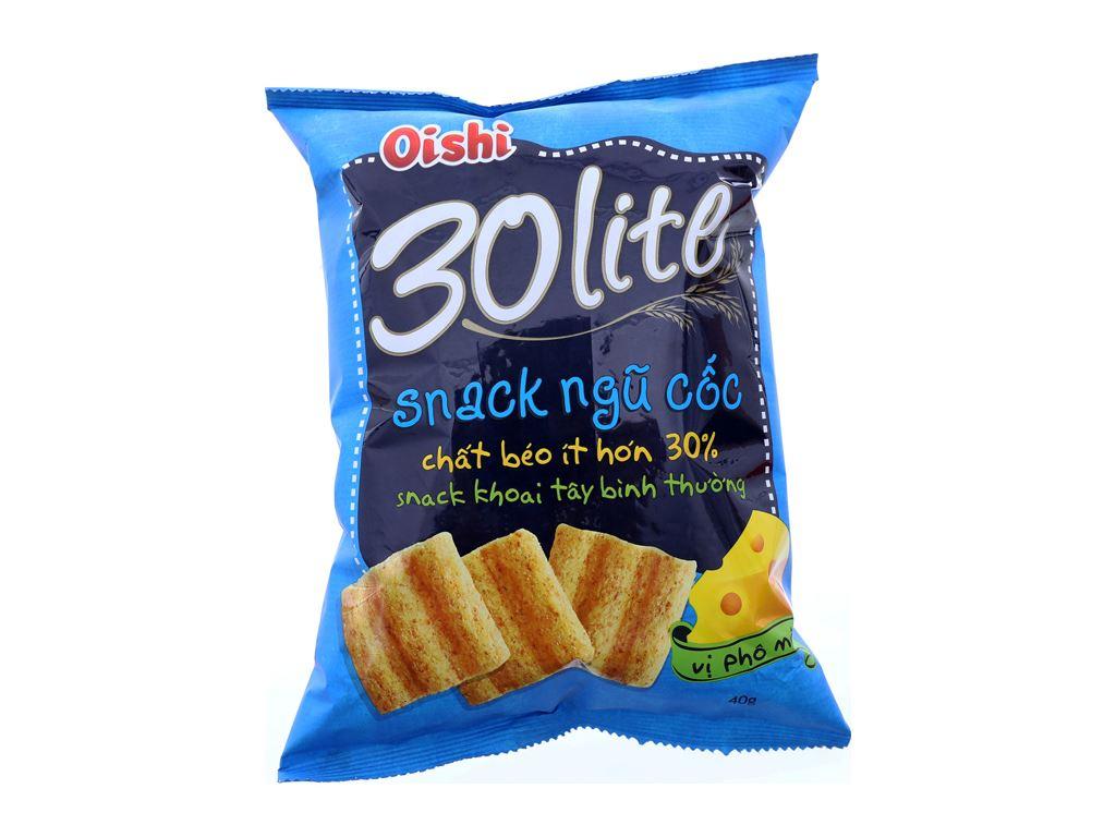 Snack ngũ cốc Oishi Vị phô mai 40g 2