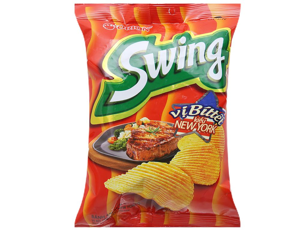 Snack khoai tây vị bít tết kiểu New York Swing gói 30g 1