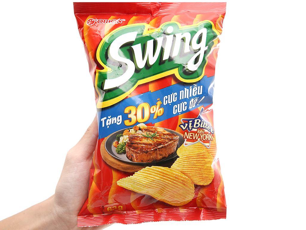 Snack khoai tây vị bít tết kiểu new york Swing gói 63g 11