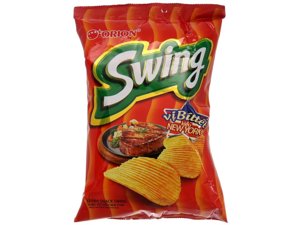Snack khoai tây vị bít tết kiểu New York Swing gói 48g 1