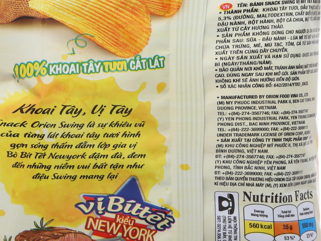 Snack khoai tây vị bít tết kiểu New York Swing gói 90g 5
