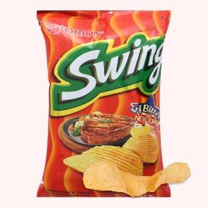Snack khoai tây vị bít tết kiểu New York Swing gói 90g