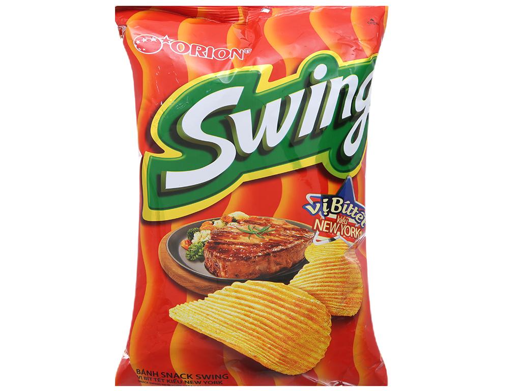 Snack khoai tây vị bít tết kiểu New York Swing gói 90g 1