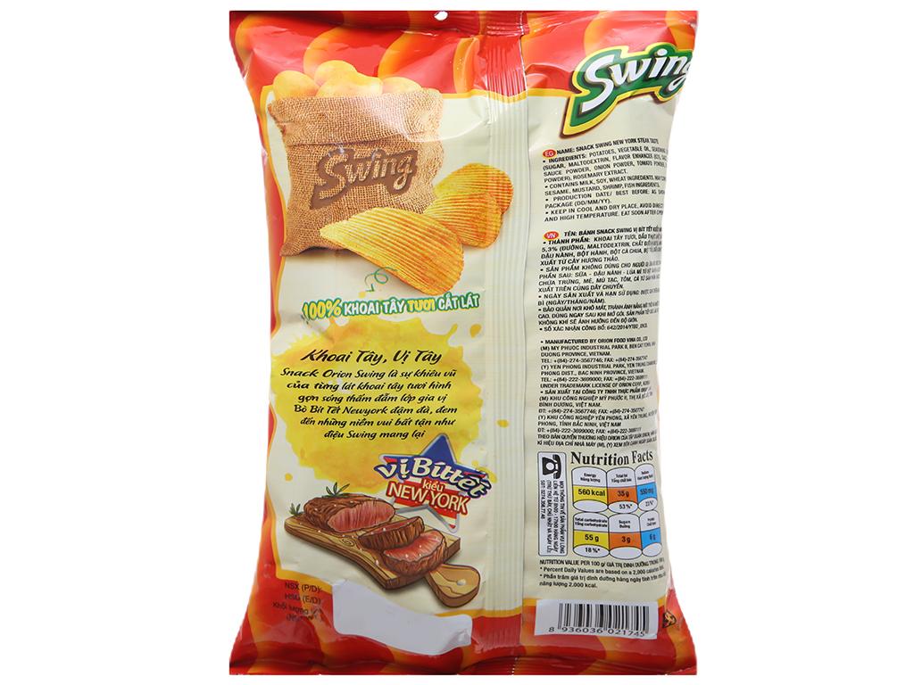 Snack khoai tây vị bít tết kiểu New York Swing gói 90g 2