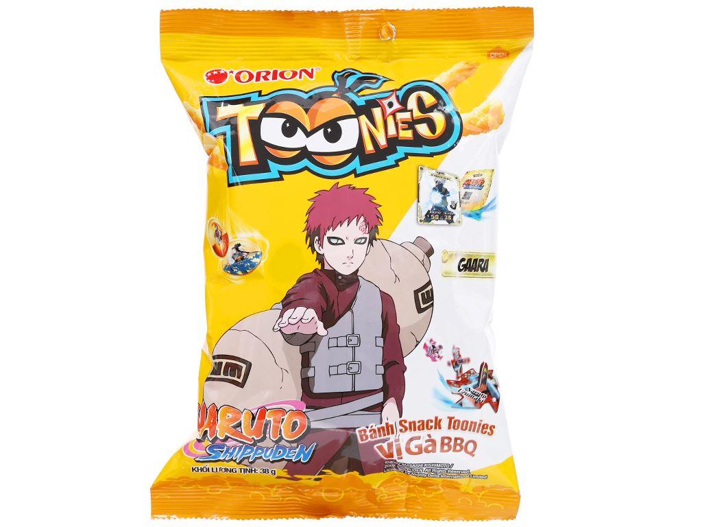 Snack Toonies vị gà BBQ gói 38g 1