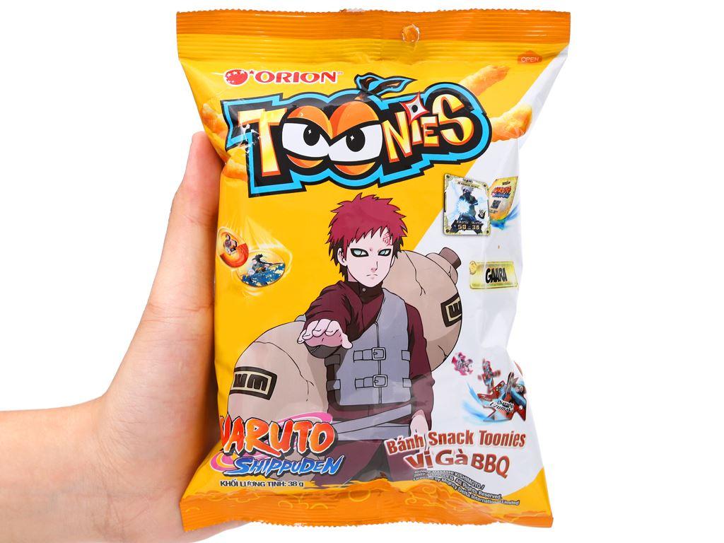 Snack Toonies vị gà BBQ gói 38g 5