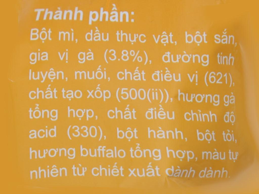Snack đùi gà vị gà chiên sốt buffalo Chikki gói 38g 3