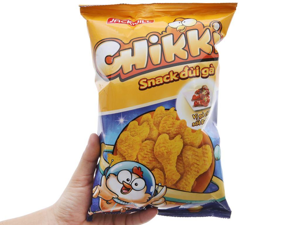 Snack đùi gà vị gà chiên sốt Buffalo Chikki gói 38g 5
