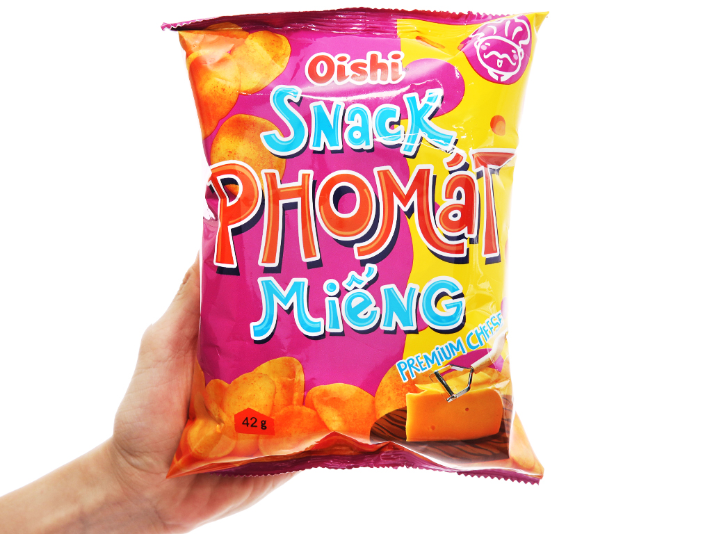 Snack pho mát miếng Oishi gói 40g 4