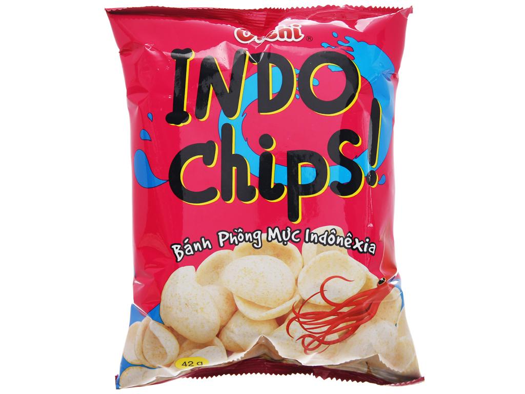 Snack phồng mực Oishi Indo Chips gói 42g 1