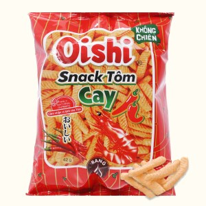 Snack vị tôm cay Oishi gói 42g