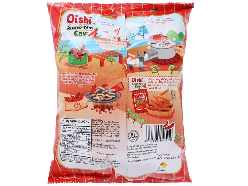 Snack vị tôm cay Oishi gói 45g 2