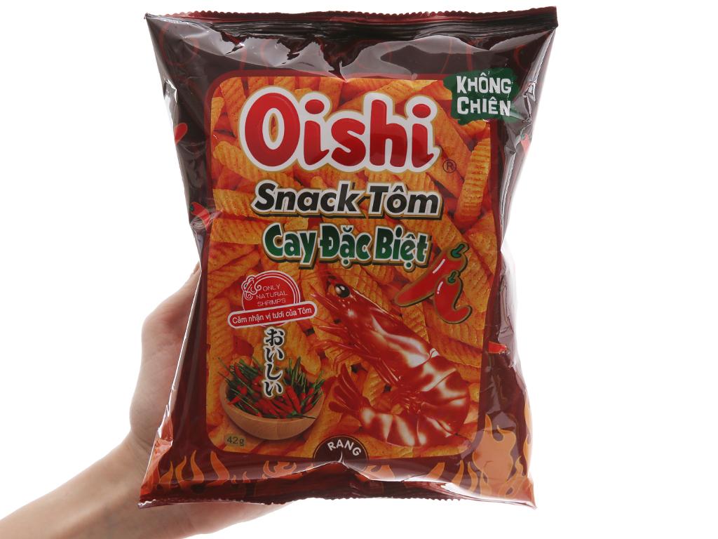 Snack tôm cay đặc biệt Oishi gói 42g 3