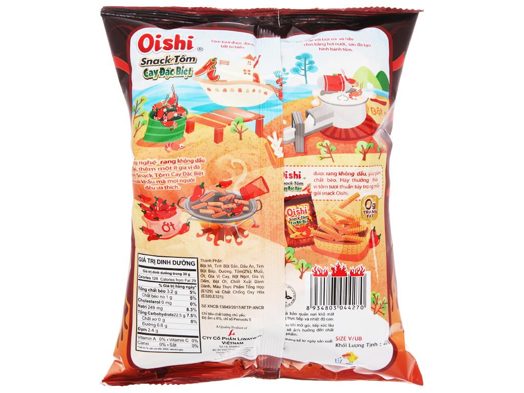 Snack tôm cay đặc biệt Oishi gói 40g 3
