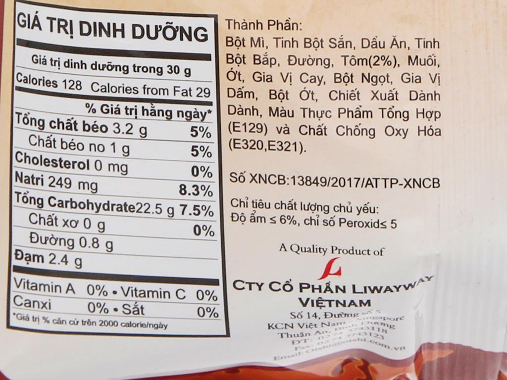 Snack tôm cay đặc biệt Oishi gói 40g 5