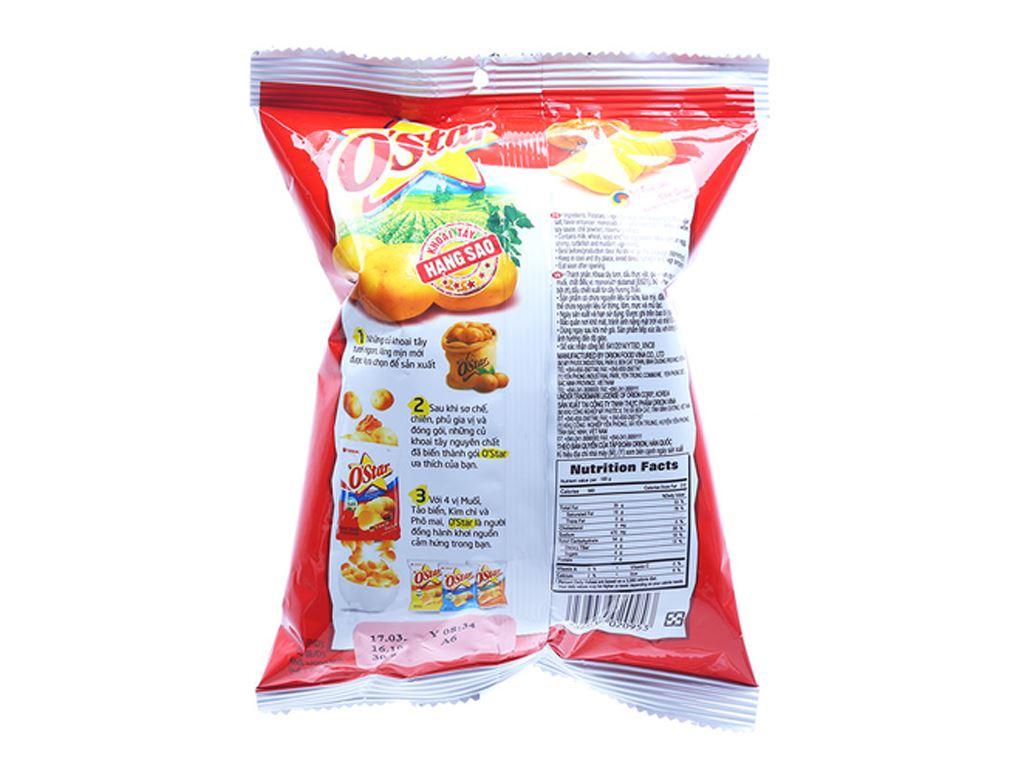 Snack khoai tây vị kim chi hàn quốc O'Star gói 30g 2