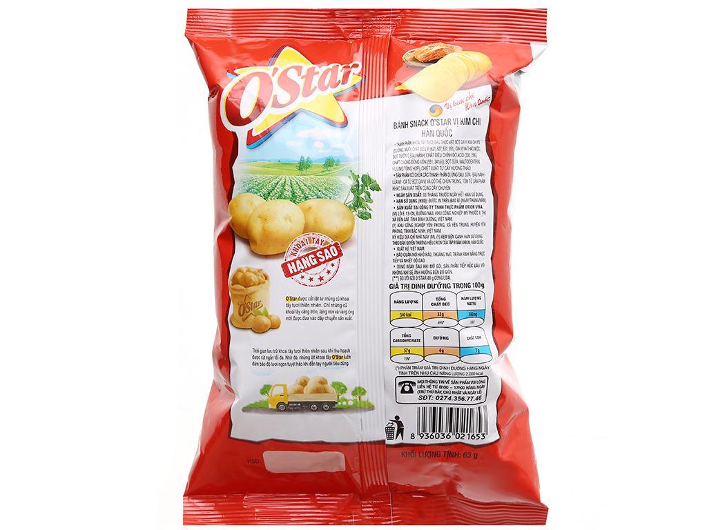 Snack khoai tây O'Star vị kim chi Hàn Quốc gói 48g 7