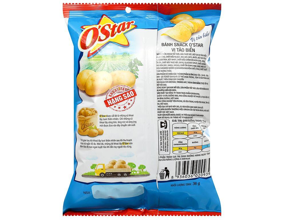 Snack khoai tây vị tảo biển O'Star gói 36g 2