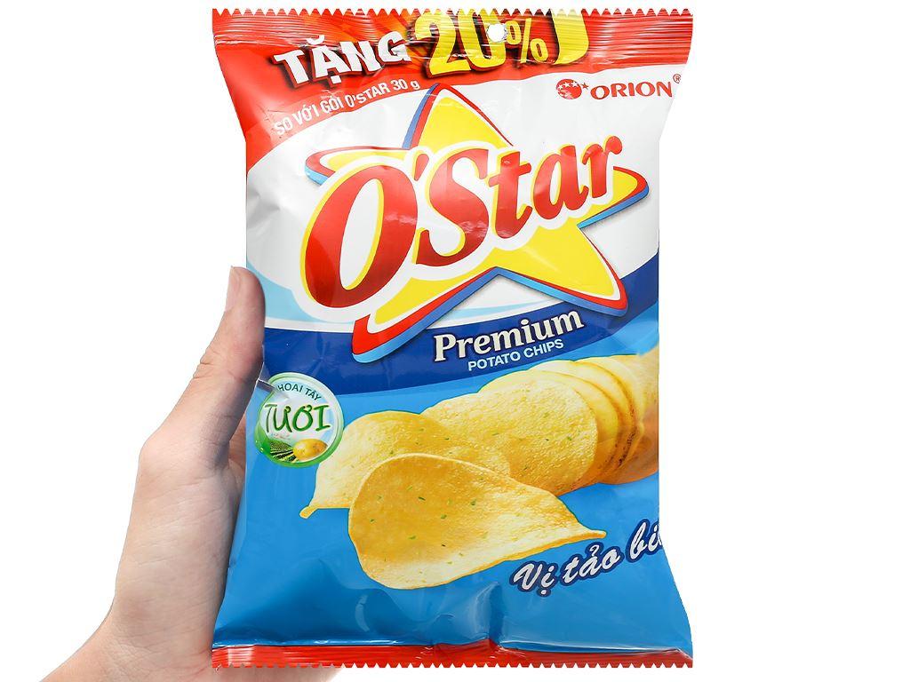 Snack khoai tây vị tảo biển O'Star gói 36g 4
