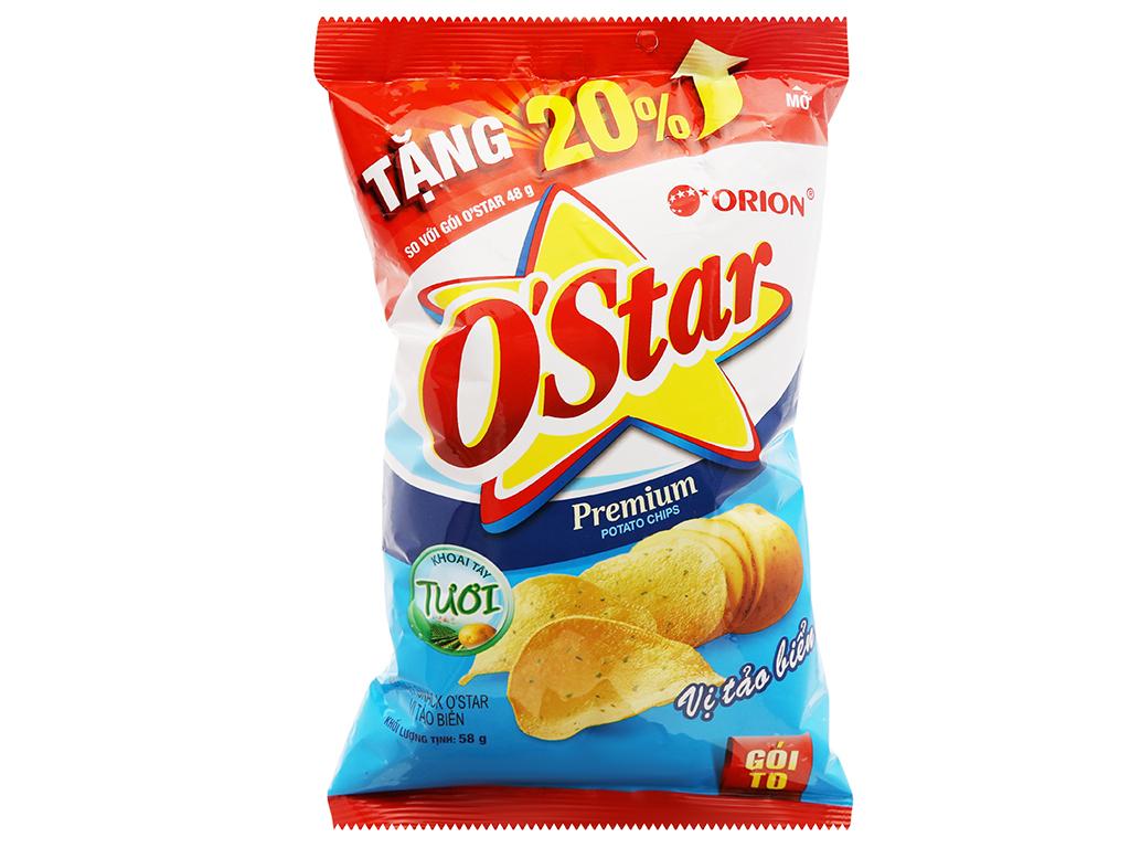 Snack khoai tây vị tảo biển O'Star gói 48g 5