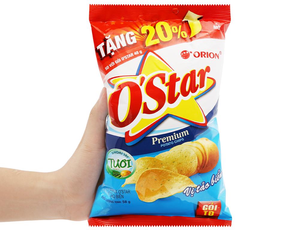 Snack khoai tây vị tảo biển O'Star gói 48g 7