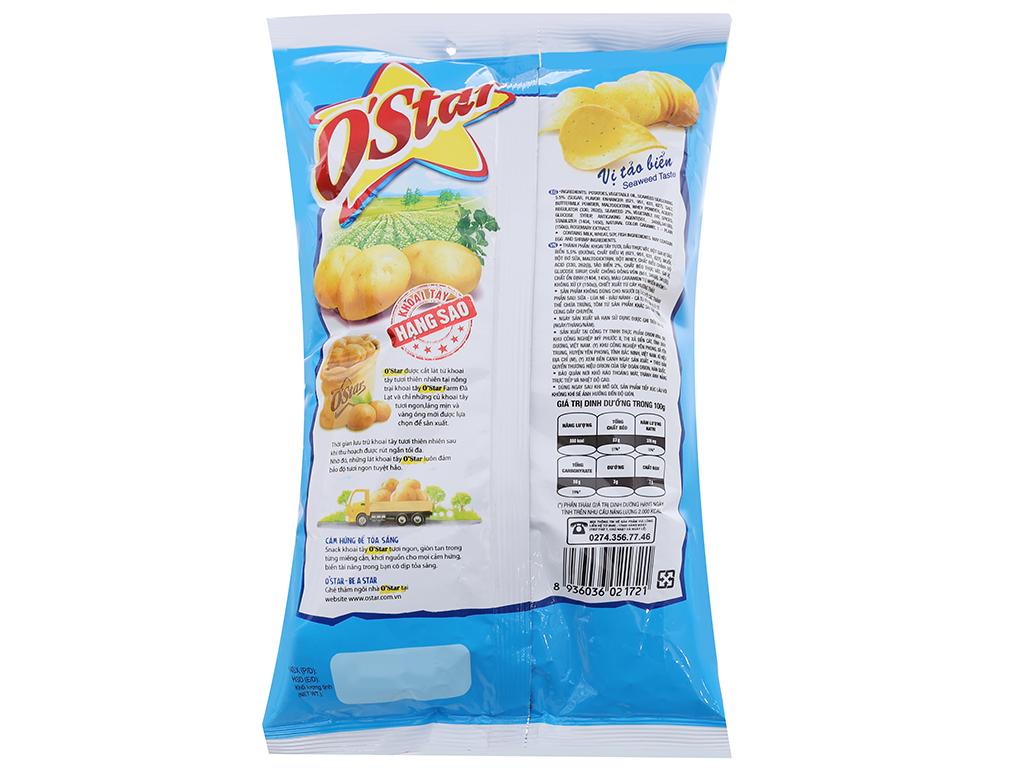 Snack khoai tây vị tảo biển O'Star gói 90g 2