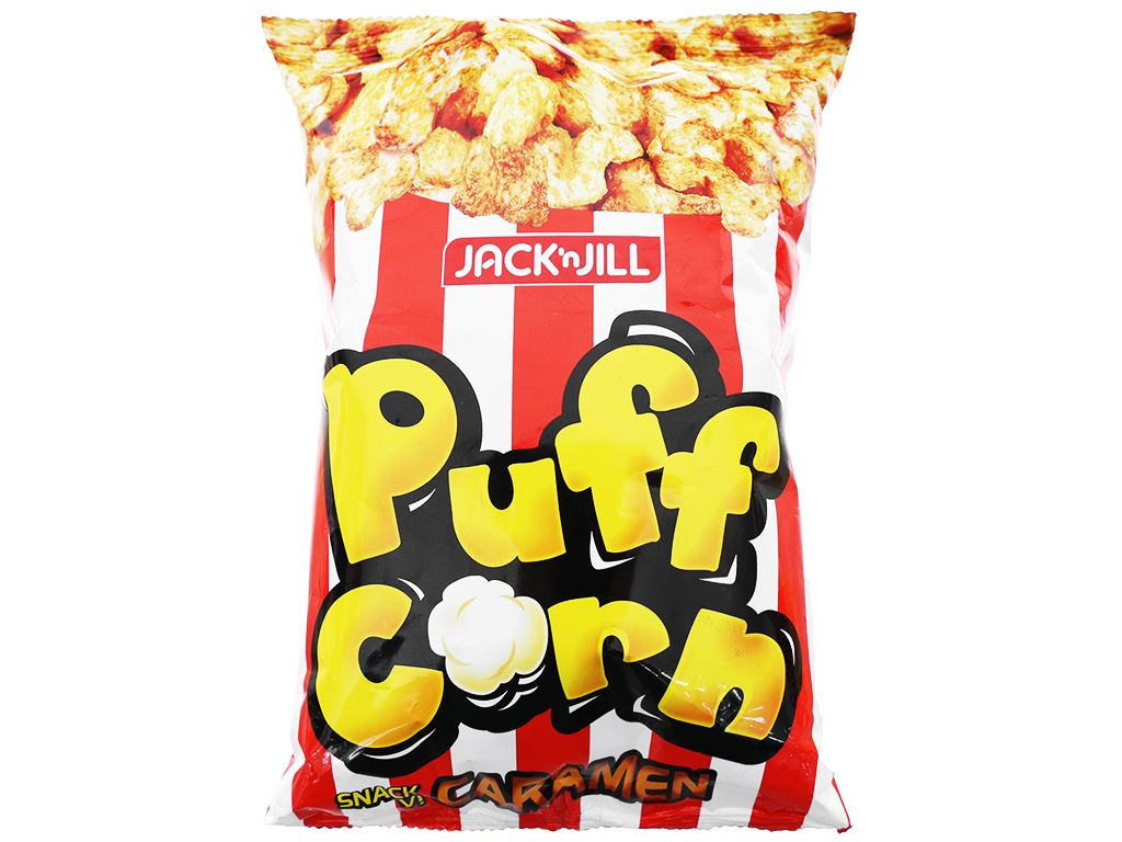Snack vị caramen Puff Corn gói 45g 5