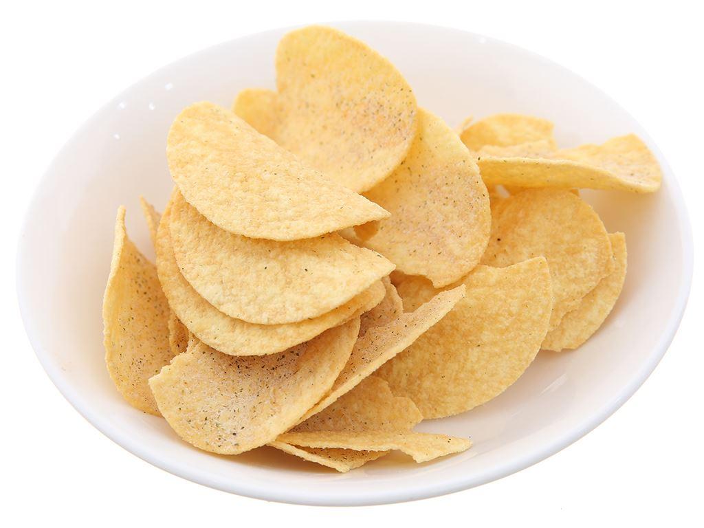 Snack khoai tây vị muối và rong biển Pringles lon 107g 6