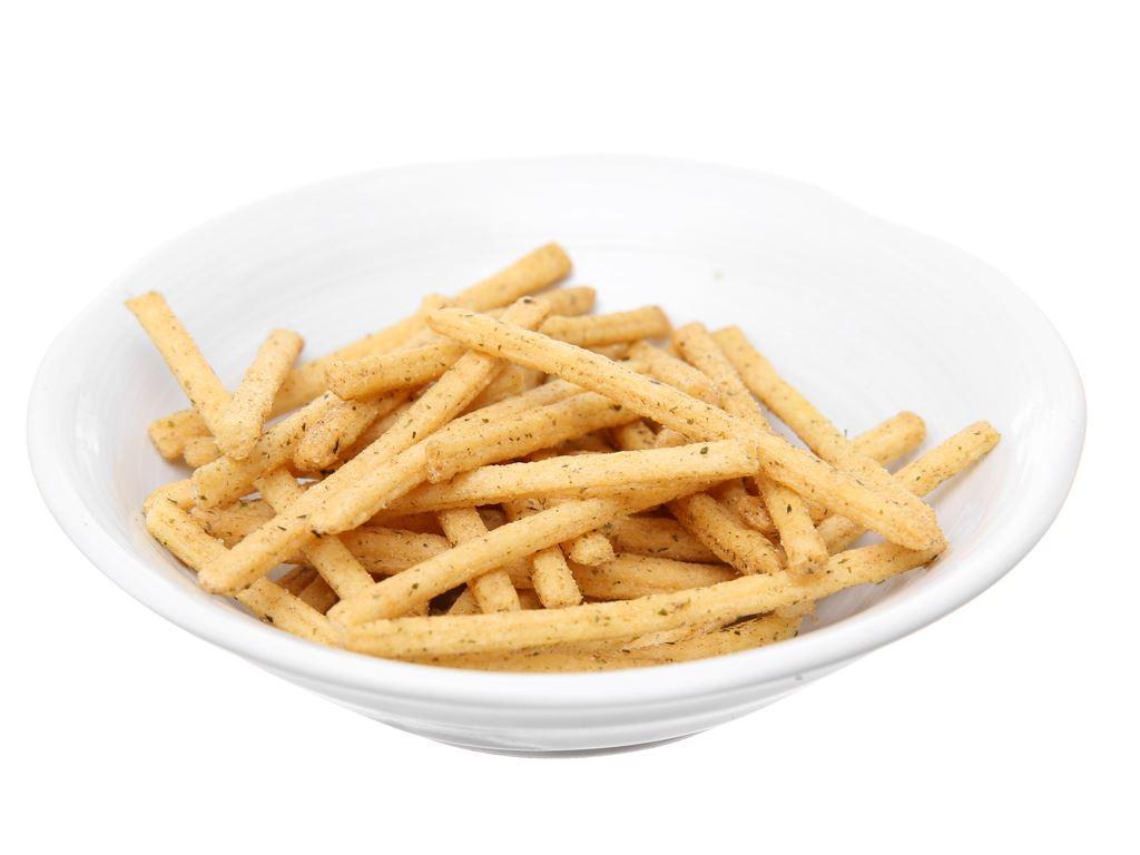 Snack khoai tây que vị tảo biển Oishi Strip Fries gói 27g 8