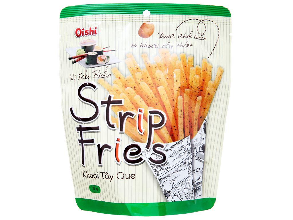 Snack khoai tây que vị tảo biển Oishi Strip Fries gói 27g 5