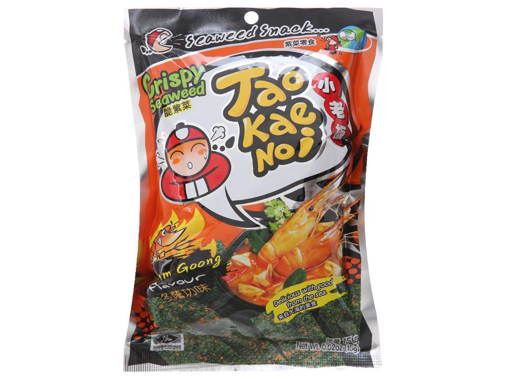 Snack rong biển giòn vị chua cay Tao Kae Noi gói 15g 1