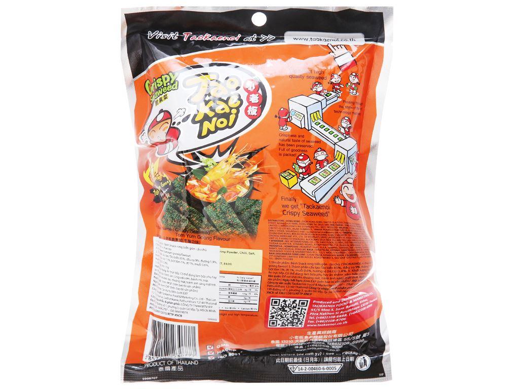 Snack rong biển giòn vị chua cay Tao Kae Noi gói 15g 3