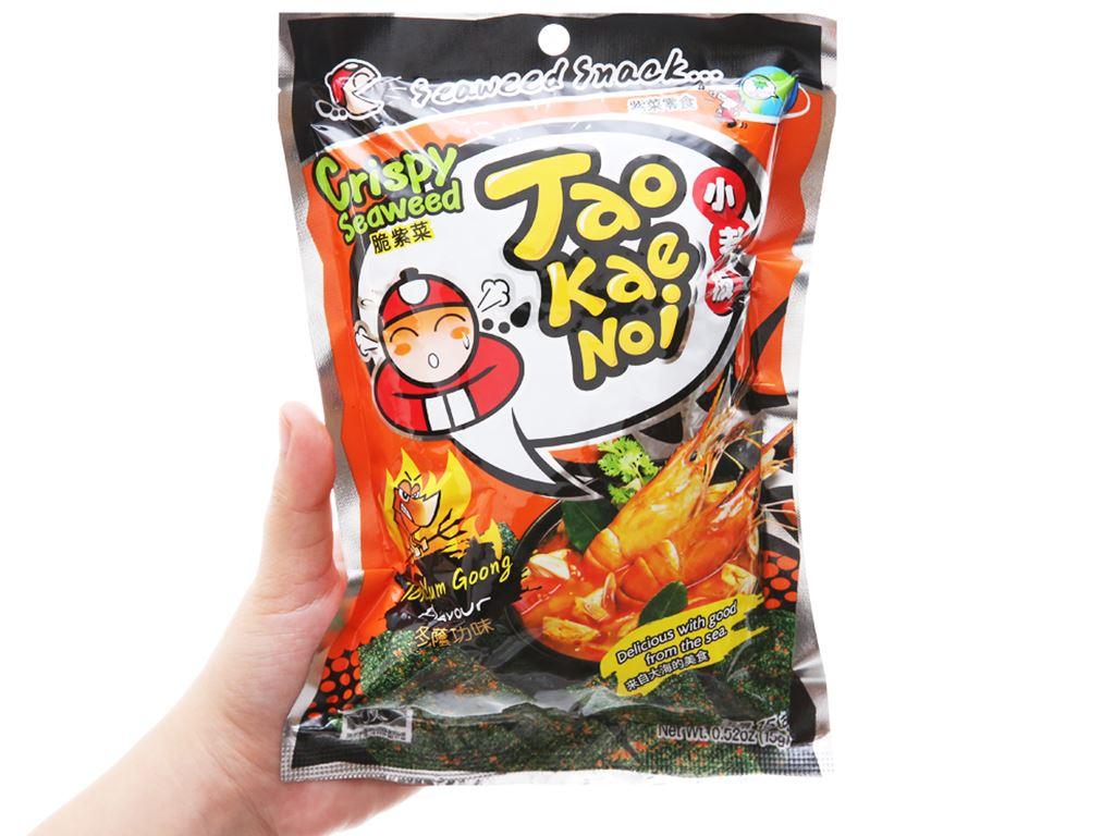 Snack rong biển giòn vị chua cay Tao Kae Noi gói 15g 4