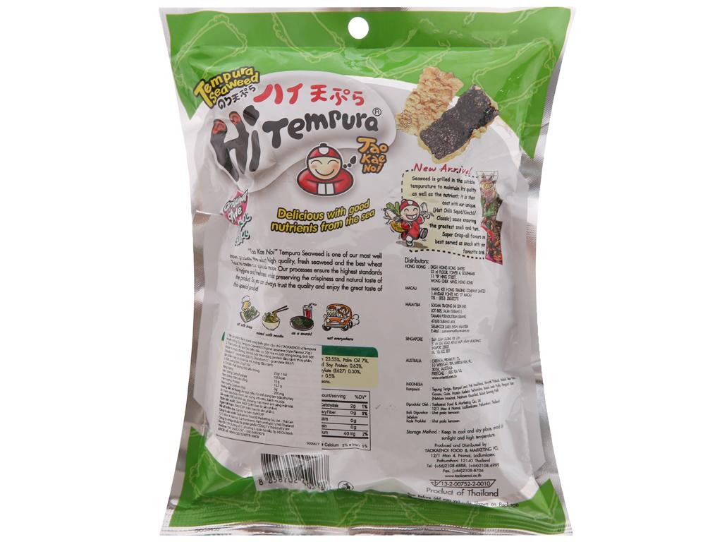 Snack rong biển vị truyền thống Tao Kae Noi Hi Tempura gói 25g 2